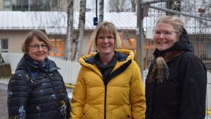 Kirsi Martin, Charlotta Allamo och Lotta Sandberg-Nyman