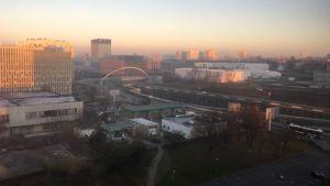 Katowice i gryningen.