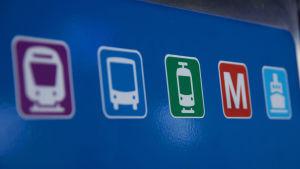 Kollektivtrafik symboler