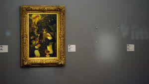 Tom plats där en av tavlorna som stals från Kunsthal i Rotterdam 16 oktober 2012 hängde
