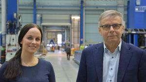 Profilbild på Niina Nurmi och Pekka Heikonen.