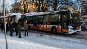 Gasdrivna bussar.