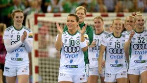Györispelarna firarr sin semifinalseger i Champions league våren 2019.