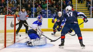 USA vann över Slovakien i JVM.