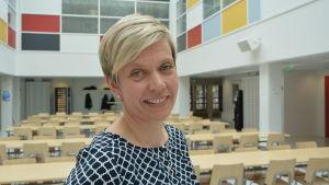 Inger Damlin, ordförande för Finlands svenska lärarförbund.