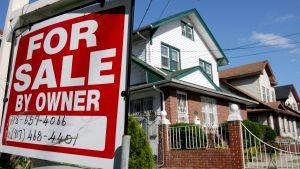 Ett hus till salu i USA