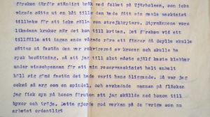 Brev till bror Bertel, 1917.