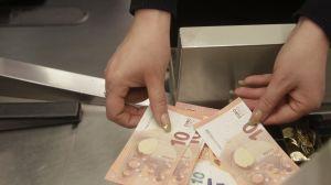 Tio euros sedlar.