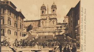 Omgivningar kring Spanska trappan i Rom