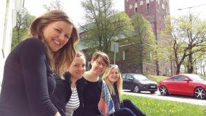 Marina von Schantz, Sofia Eklund, Ilona Silvola och Matilda Isotalo.