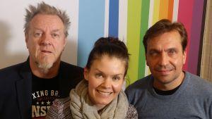 Josper Knutas, Pinja Rautio ja Janus Hanski Levylautakunnassa 22.10.2016