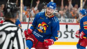 Nicklas Jensen firar mål.