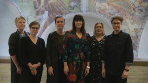 Bild på Merja Pentikäinen, Raija Talvio, Eva-Maria Koskinen, Heidi Lindén, Katariina Ilmaranta och Mari Mantela.