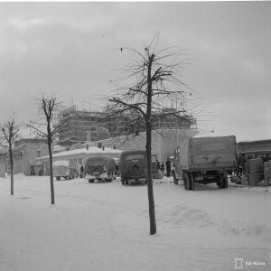 Autoasema ja kauppahalli.. Mikkeli. 28-12-39.