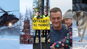 olyckor, kyrkan, kommunfusioner och vargen intresserade i Österbotten år 2019.