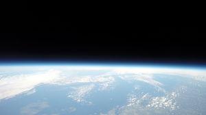 Österbotten sett från 40 kilometers höjd.