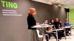 Kandidater till Nordiska rådets litteraturpris 2015 på besök i Helsingfors.