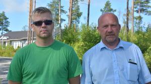 Dan Lindström och Antti Karlsson byggde hus i Norrbacka och fick löfte om asfaltväg.