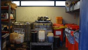 Farligt avfall vid Stormossen i Korsholm.