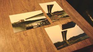 Bilder från då bron över Norrströmmen i Nagu byggdes