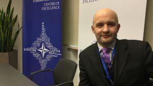 Jānis Sārts, som är chef för Natos kompetenscenter i strategisk kommunikation i Riga.