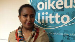Solomie Teshome sakkunnig vid Förbundet för mänskliga rättigheter