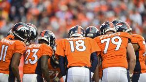 Denver Broncos i NFL-semifinalen mot New England Patriots.