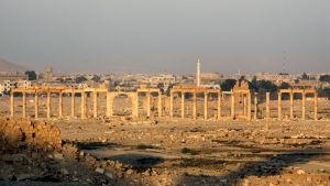Den historiska staden Palmyra i Syrien