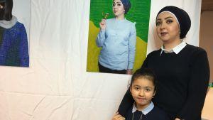 Basma och hennes dotter Layan.