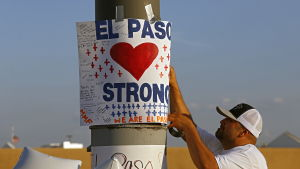 Plakat i El Paso efter masskjutningen 3.7.2019