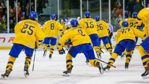 Sveriges juniorer i Kanada.