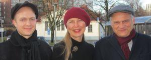 Tutkija Roope Kaaronen, professori Helena Kahiluoto ja professori Markku Wilenius.