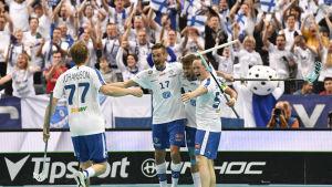Finland är regerande världsmästare efter 6–3-finalsegern mot Sverige i Prag 2018.