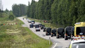 Vladimir Putin på besök i Finland.