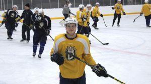 Kasper Björkqvist på Blues A-junior träningar 11.2.2016