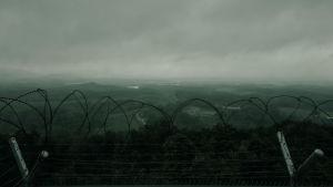 Det isolerade Nordkorea stängde gränserna hermetiskt i början av pandemin. Bilden är från gränsen mellan Nord- och Sydkorea
