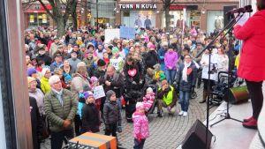 Demostration för Borgå BB