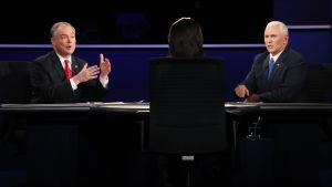 USA:s vicepresidentkandidater möttes till debatt.