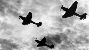 Junkers-syöksypommittajia.
