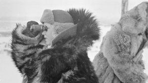 Ilmavalvontalotta Rovaniemen Pöyliövaaralla helmikuussa 1940.
