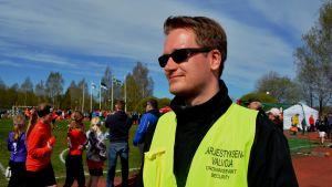 Jonny Smeds, ordningsvakt på Sjundeå Cup.