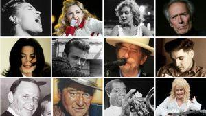 Amerikan ääni -radiosarjassa käsiteltävät 12 ikonista tähteä.