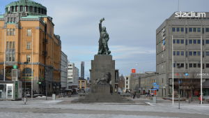 Frihetsstatyn på Vasa torg.