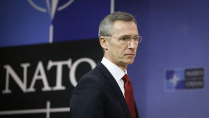 Natos generalsekreterare Jens Stoltenberg på Natomöte i Bryssel