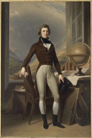 Nuori Orléansin herttua maanpaossa Saksan Reichenaussa juuri ennen Lapin matkaa. Maalaus François-Auguste Biard