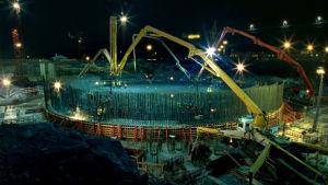 bild av kärnkraftsbygget Olkiluoto 3
