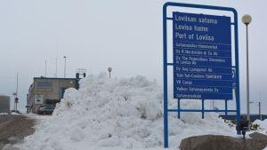 lovisa hamn-skylt