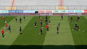 Belgiens fotbollslandslag ställde in dagens träningspass.