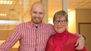 Petri Horttana och Lea Adolfsson i Fredagssnack 18.11.