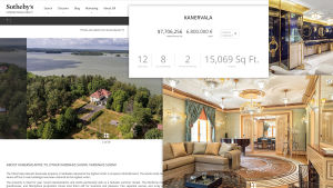 Kuvakaappaus Kanervala-kiinteistön myynti-ilmoituksesta.
